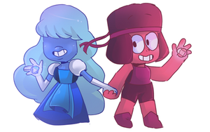 Ruby and Sapphirre by mabill2001