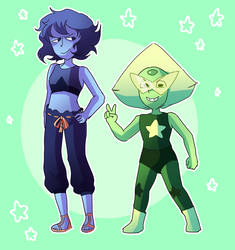 The new Lapis and Peridot by mabill2001