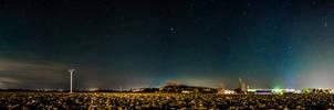 Winter night sky panorama by lg-studio