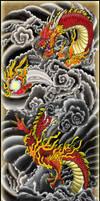 Traditonal Ebiki style dragon by TheTrueFoldedSteel