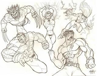 My favorite X-men by TheTrueFoldedSteel
