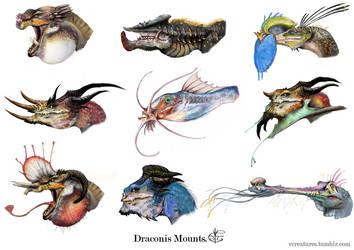 Dragon mounts by Vincent-Covielloart