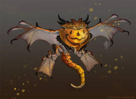 Candy Corn Dragon by Vincent-Covielloart