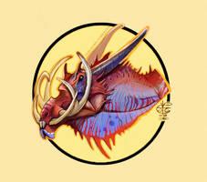 Dragon head by Vincent-Covielloart