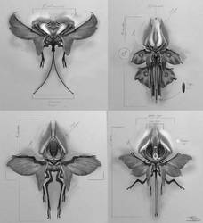 Alien Flyers by Vincent-Covielloart