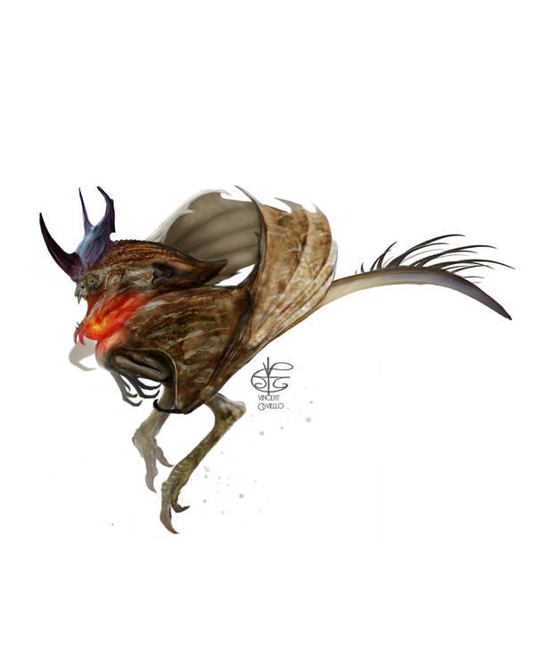 Sparrow Dragon by Vincent-Covielloart