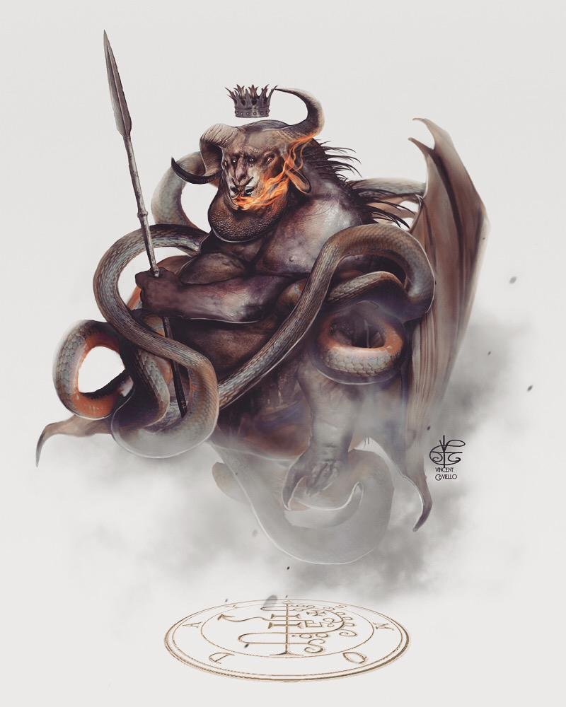 Goetia Asmodeus by Vincent-Covielloart