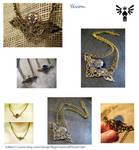 Yevon:  A Brass Filigree Necklace by mayokeoni