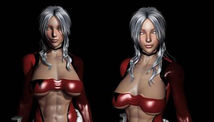 Quick Dirty Render 012: ScarlettBlast's new face by Sandmarine