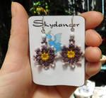 Flower Power Earrings by FeynaSkydancer