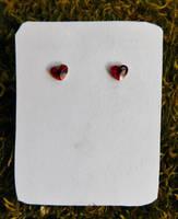 Crystal Heart Stud Earrings by FeynaSkydancer