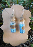 Bottled Moondust Earrings by FeynaSkydancer