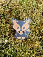 Cute Fox Pin 2 by FeynaSkydancer