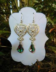 Elf Queen Earrings by FeynaSkydancer