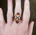 Beaded Ring by FeynaSkydancer