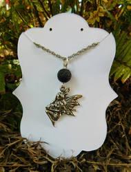 Fairy pentant with lava stone by FeynaSkydancer