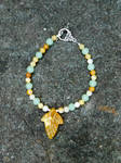 First Leaf of Autumn/Lothlorien Bracelet by FeynaSkydancer