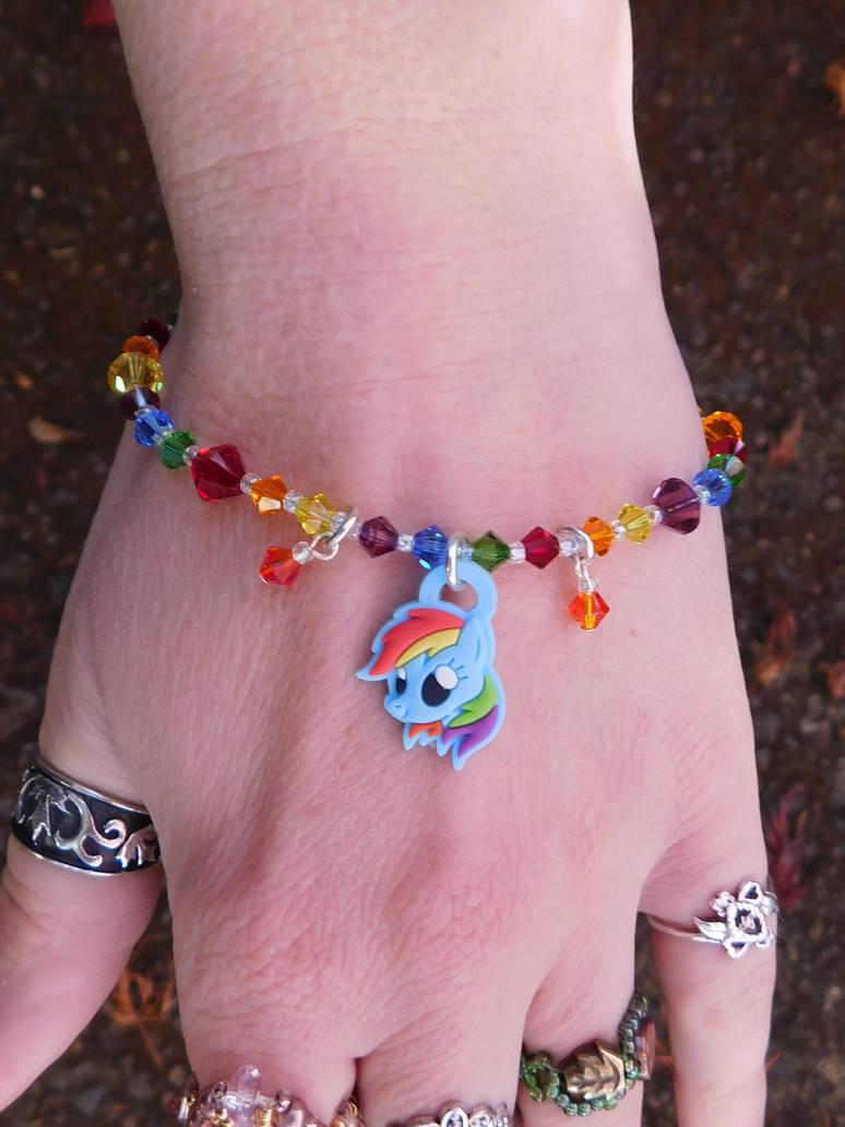 RainbowDash Charm bracelet by FeynaSkydancer