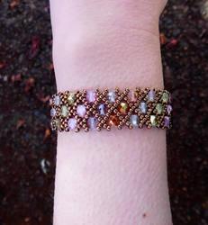 Net Pattern Bracelet by FeynaSkydancer