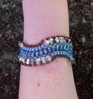 Blue Surge Bracelet by FeynaSkydancer