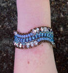 Blue Surge Bracelet by FeynaSkydancer