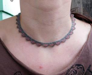 Simple Scallop Necklace by FeynaSkydancer
