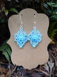 Blue Beaded Earrings by FeynaSkydancer