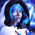 Cold Beauty with blue hairs - Fantasy Art by G-abi-K