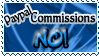 Art Status Stamp - Paypal Commissions No! by Drache-Lehre