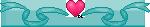 Heart-n-Ribbon Divider (Turq-Dk.Pink) - F2U! by Drache-Lehre