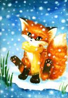 fox in snow by Footroya