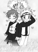 Naruto and Gaara cutie style by SeidooReiki