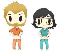 Rhett and Link by stitchedBones