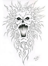 Ghost Day 1 Drawlloween/Inktober by EricKemphfer