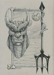 Demon Drawlloween/Inktober day 17 by EricKemphfer