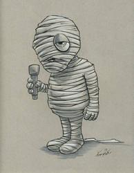 Mummy Drawlloween/Inktober day 25 by EricKemphfer