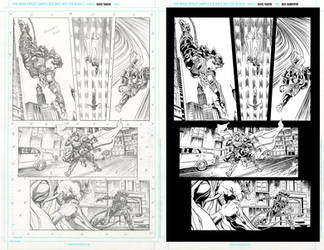 Injustice 17 page 5 ink practice SideBySide by EricKemphfer