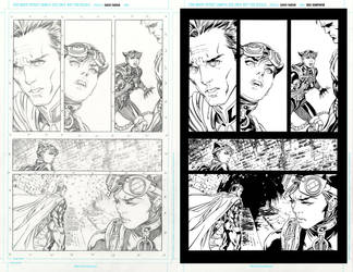 injustice 17 page 8 ink practice SideBySide by EricKemphfer