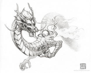 Eastern Dragon Sketch by Seylyn