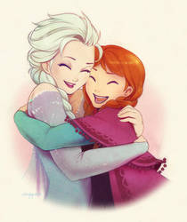 [FanArt] Frozen - Warm Hearts by Seylyn
