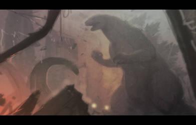 [Sketch] Godzilla by Seylyn