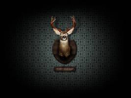 desert mule deer by harisson