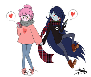 Valentine's Day - Bonni and Marcy by tirmesaito