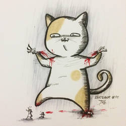 Inktober #10 - Gigantic/Cat/Forcibly Torn Apart by tirmesaito