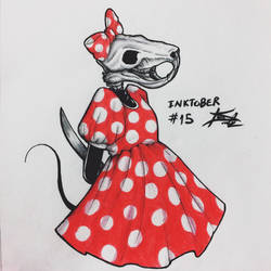 Inktober #15 - Mysterious/The Mouse/Exposed Bone by tirmesaito