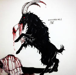 Inktober #21 - Furious/The Goat/Mutilation by tirmesaito