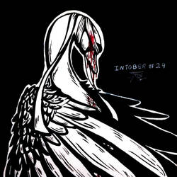 Inktober #24 - Blind/The Swan/Oozing Blood by tirmesaito