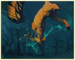 Under Water it Glowed by kalamu