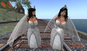 Twin Brides Railroad Peril 1 by ddrplayax