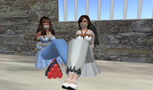 Bride and Maid of honor bound by ddrplayax